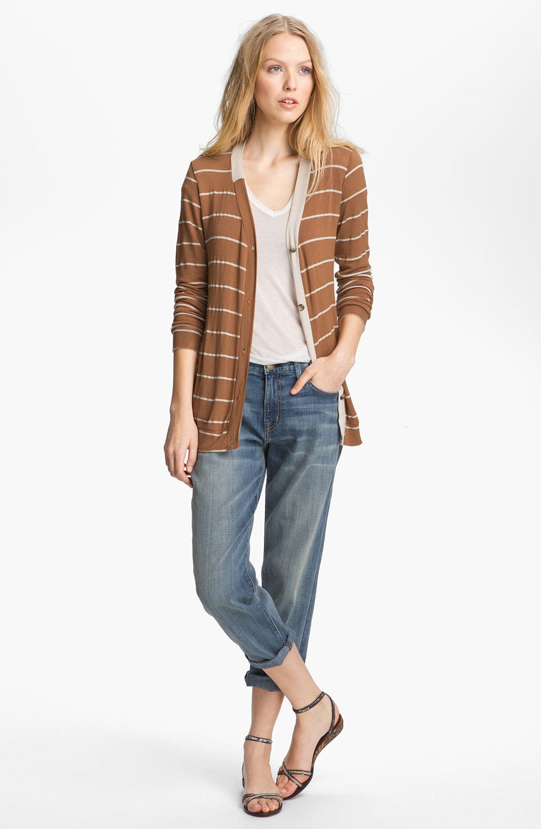 Alternate Image 1 Selected - Kain 'Joss' Stripe Boyfriend Cardigan