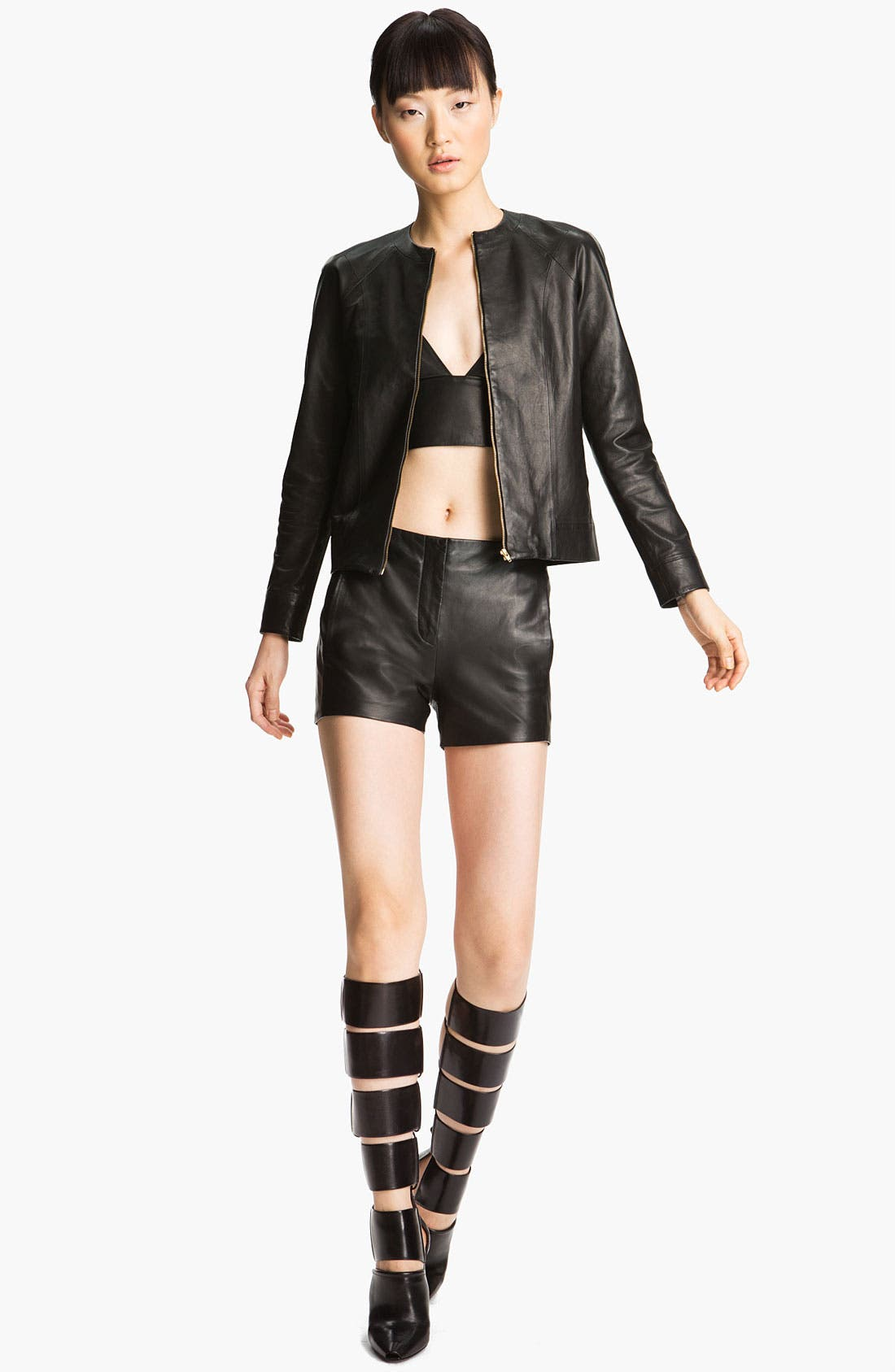 Alternate Image 4  - T by Alexander Wang Lightweight Leather Shorts