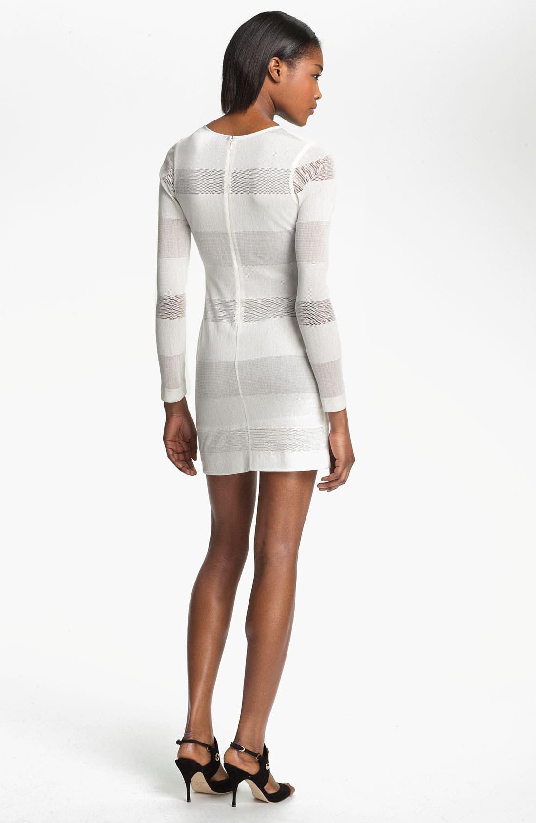 Alternate Image 2  - Cut25 Mesh Stripe Dress
