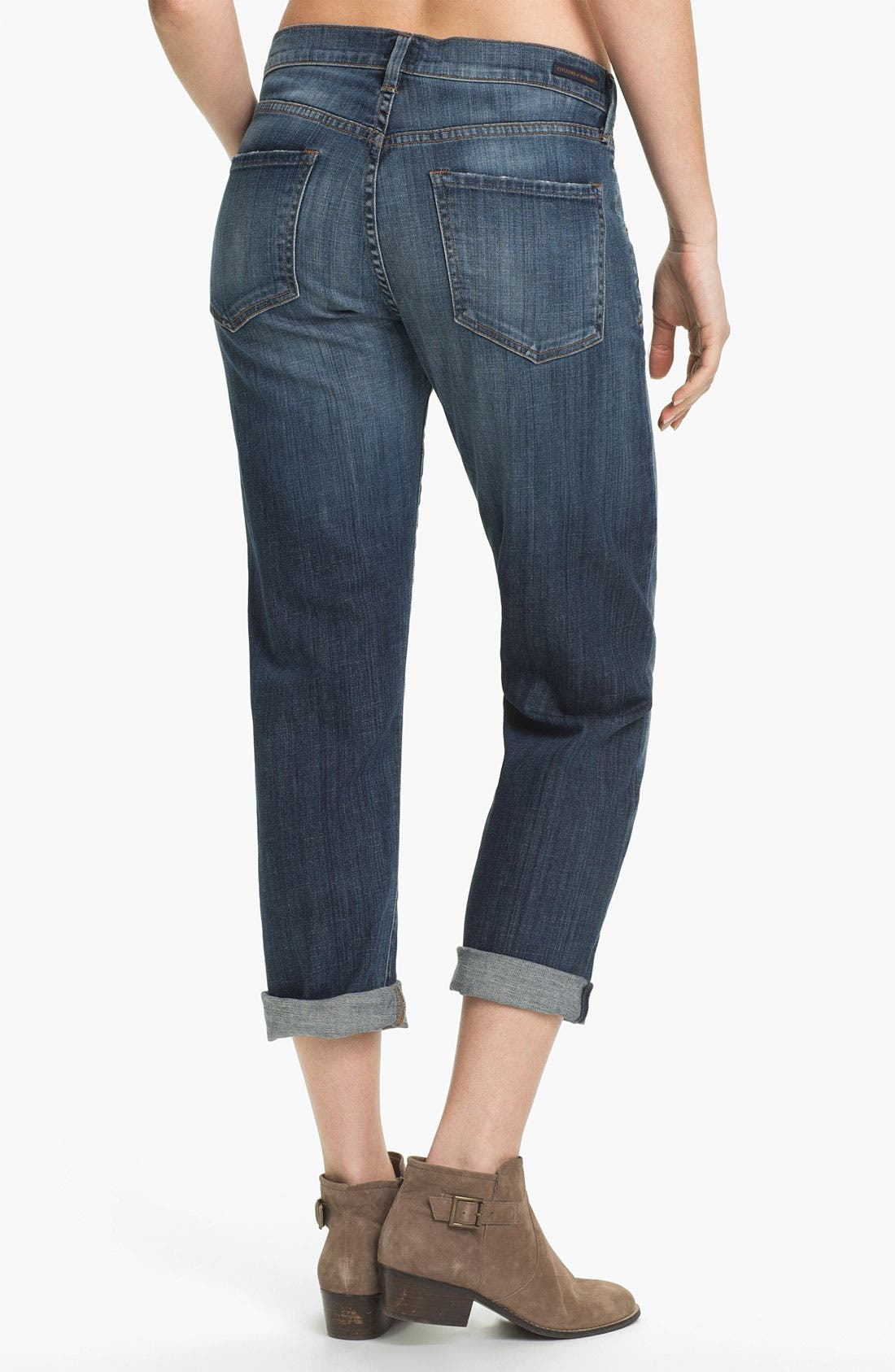 Alternate Image 2  - Citizens of Humanity 'Dylan' Cropped Loose Fit Jeans (Scene)