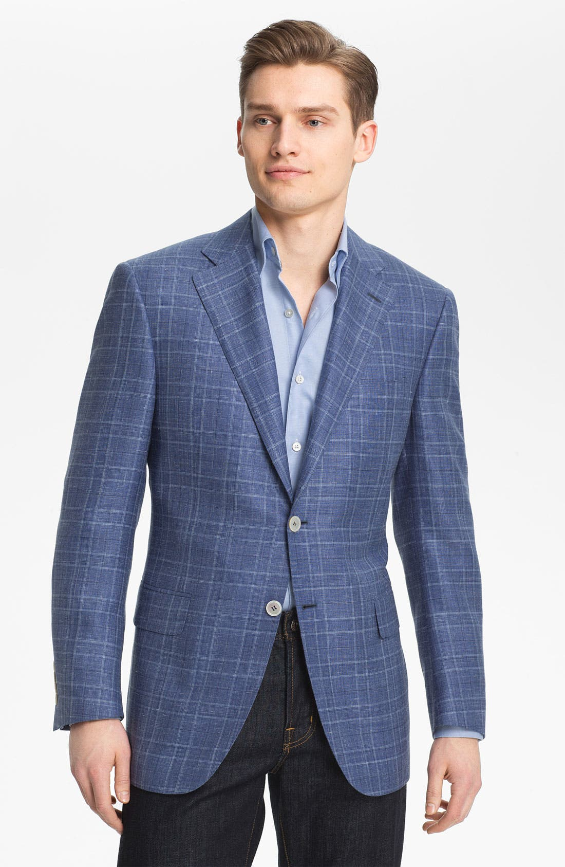 Alternate Image 1 Selected - Canali Plaid Sportcoat