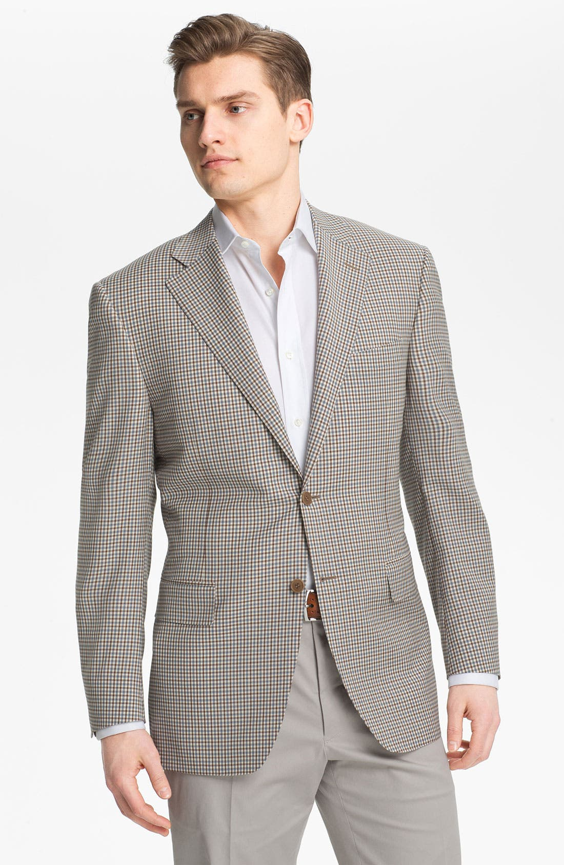 Alternate Image 1 Selected - Canali Check Wool Sportcoat
