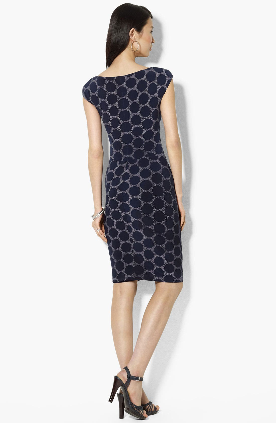 Alternate Image 2  - Lauren Ralph Lauren Polka Dot Matte Jersey Dress