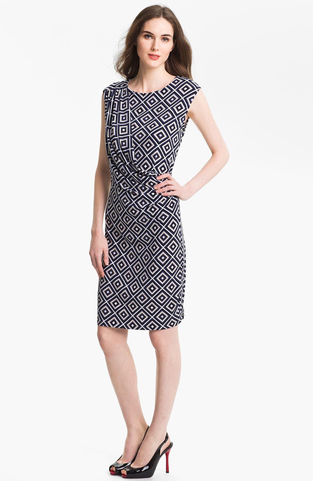 Alternate Image 1 Selected - Anne Klein Diamond Print Dress