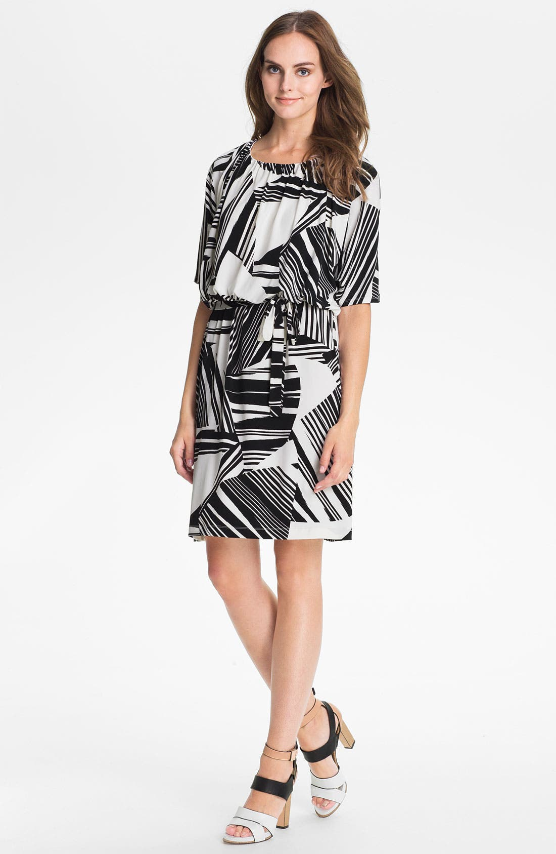 Alternate Image 1 Selected - Suzi Chin for Maggy Boutique Print Blouson Dress
