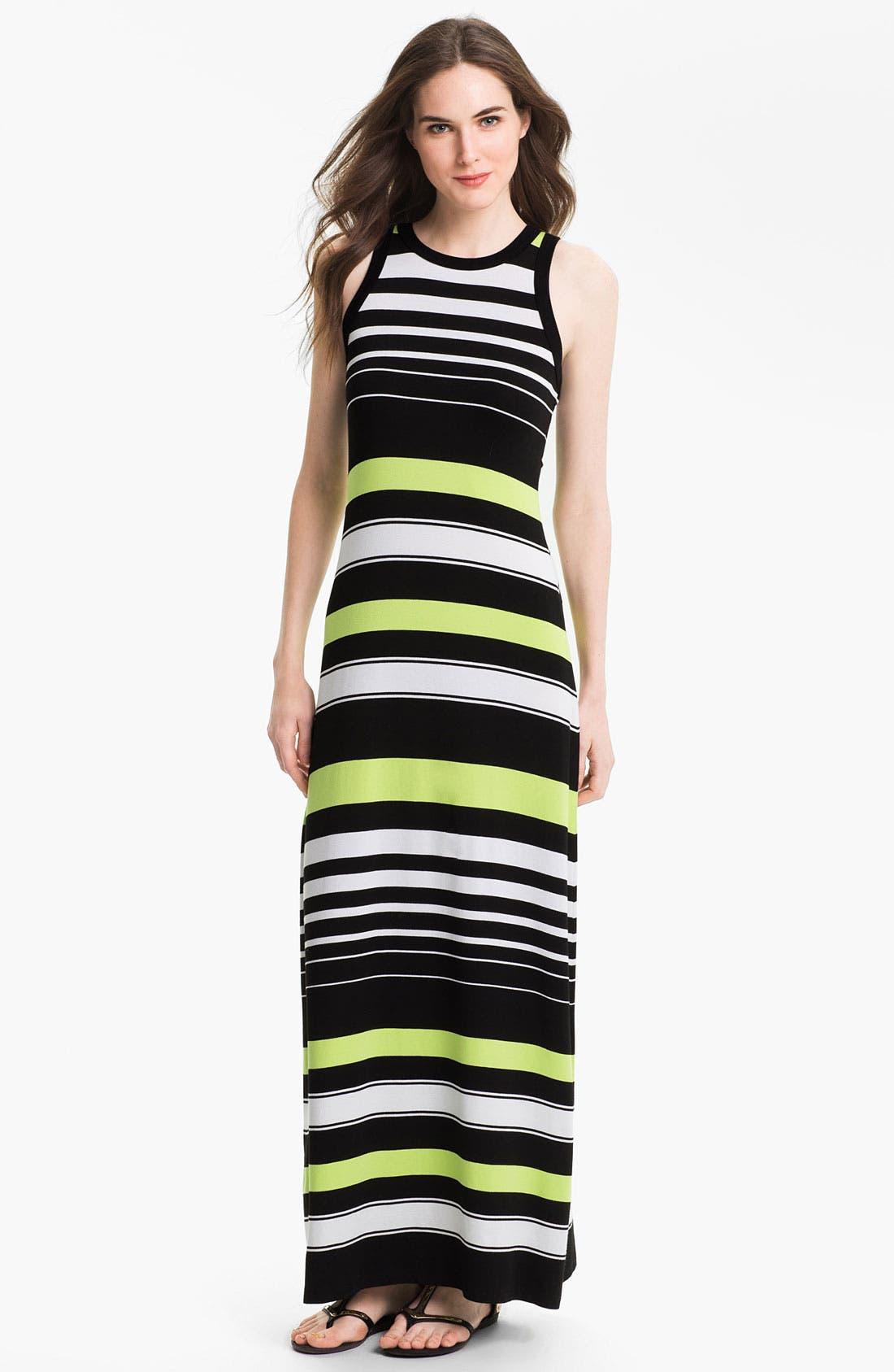 Alternate Image 1 Selected - Karen Kane Stripe Maxi Tank Dress