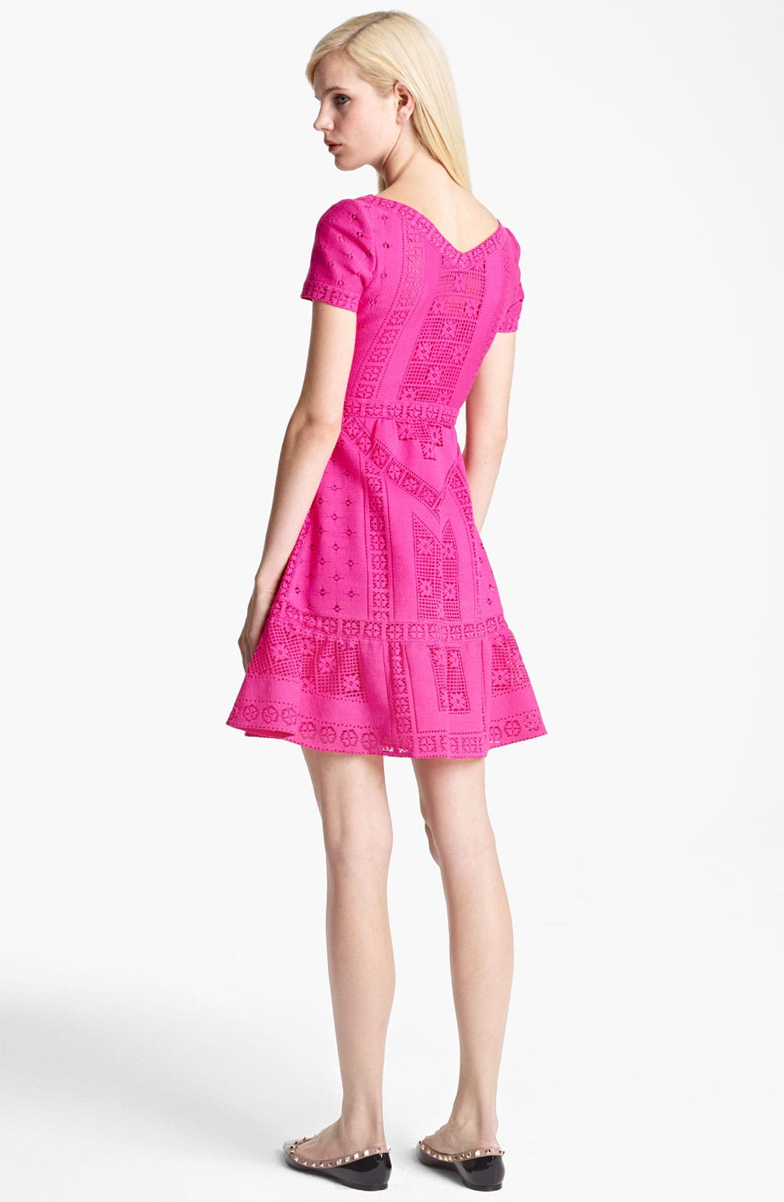 Alternate Image 2  - Valentino V-Neck Lace Dress