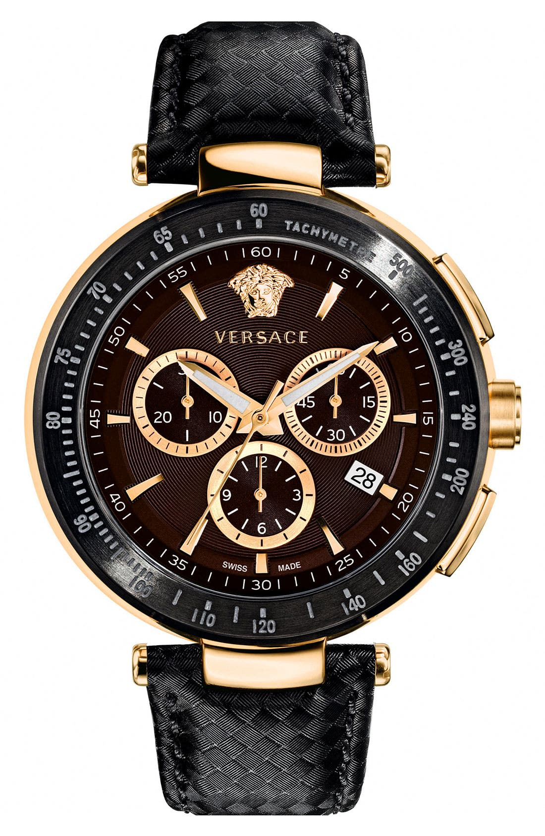 Alternate Image 1 Selected - Versace 'Mystique Chrono' Guilloche Dial Watch, 43mm