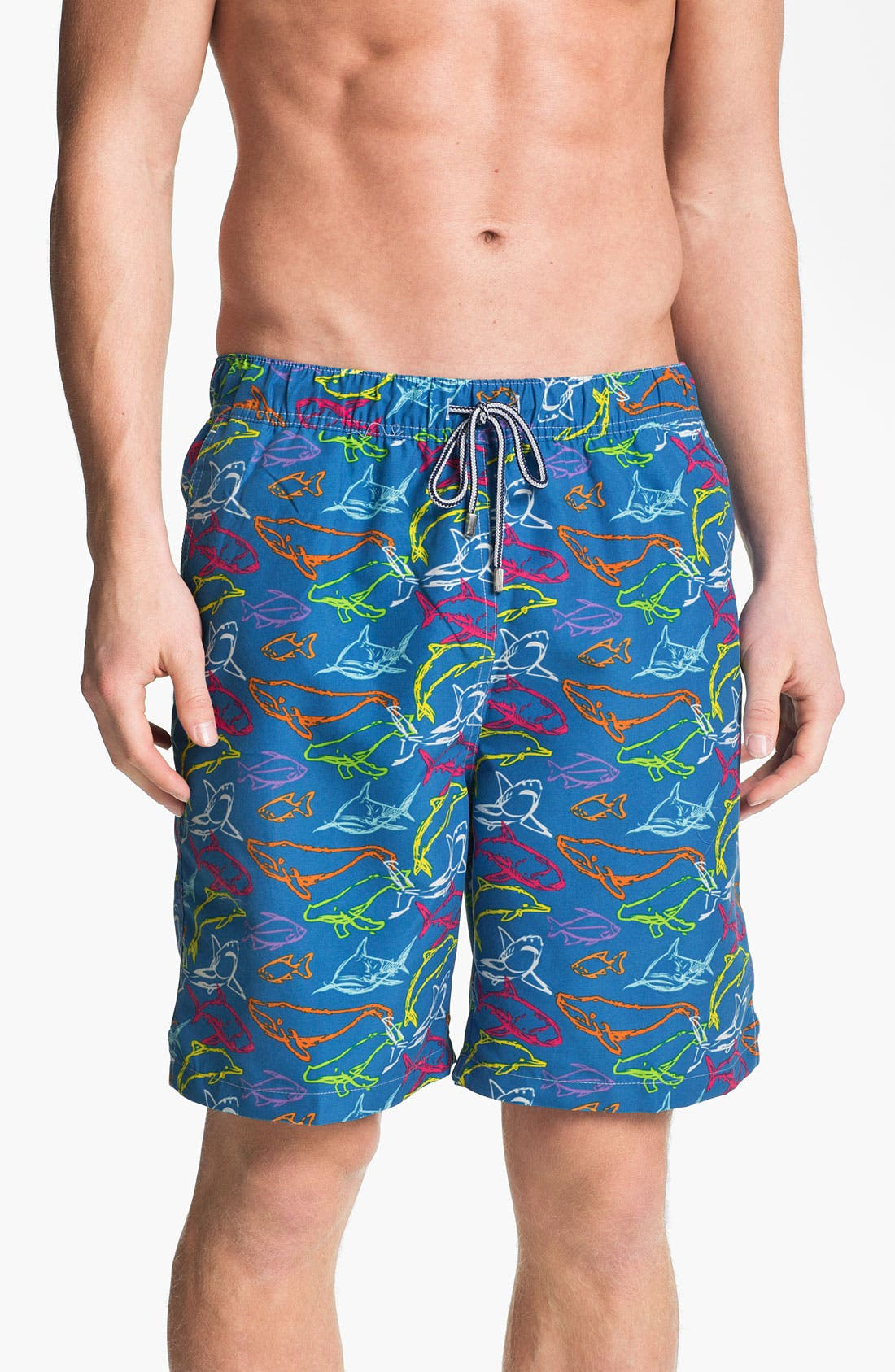 Main Image - Peter Millar 'Under the Sea' Swim Trunks