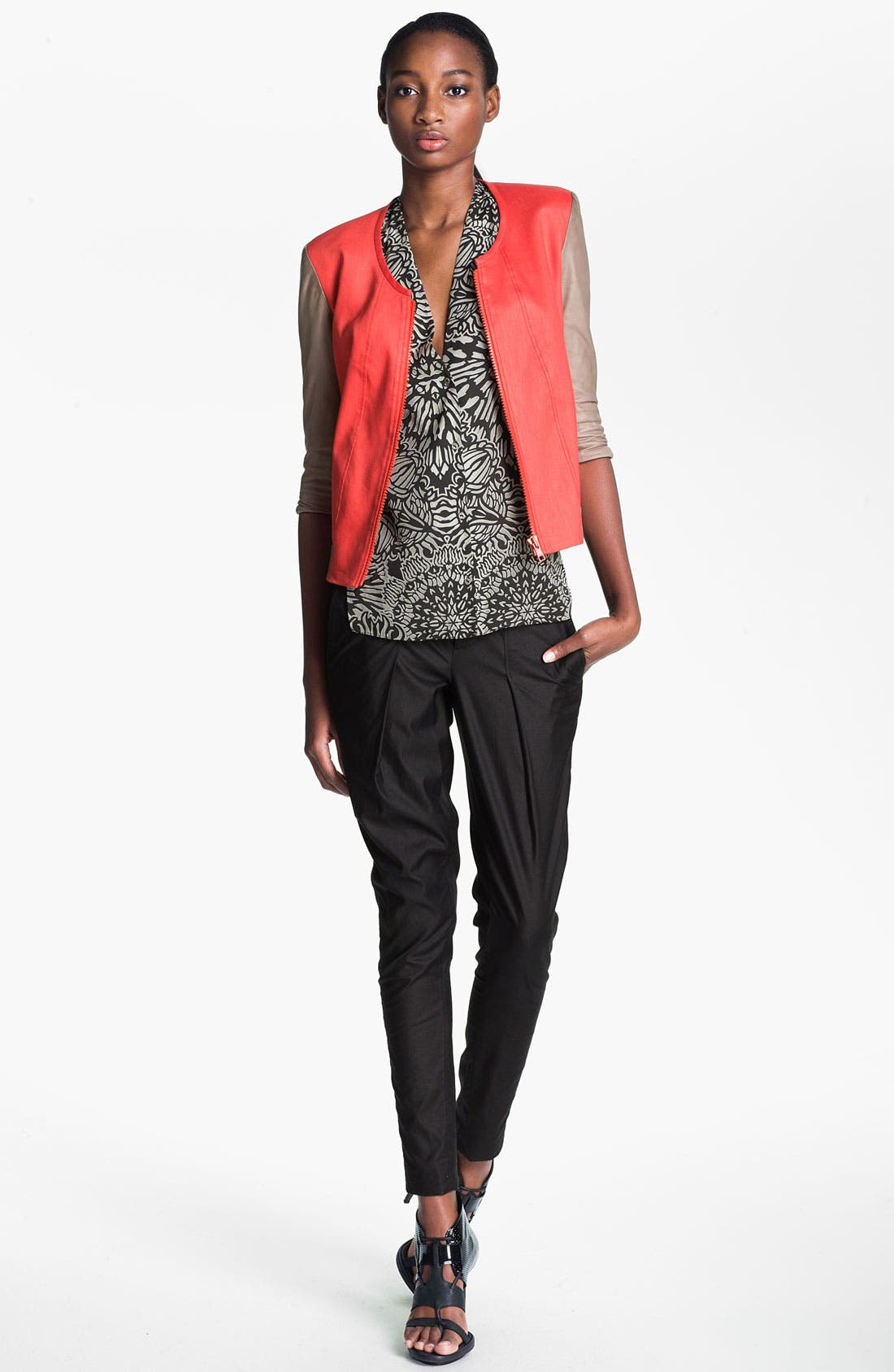 Alternate Image 1 Selected - Helmut Lang Glossy Twill Bomber Jacket