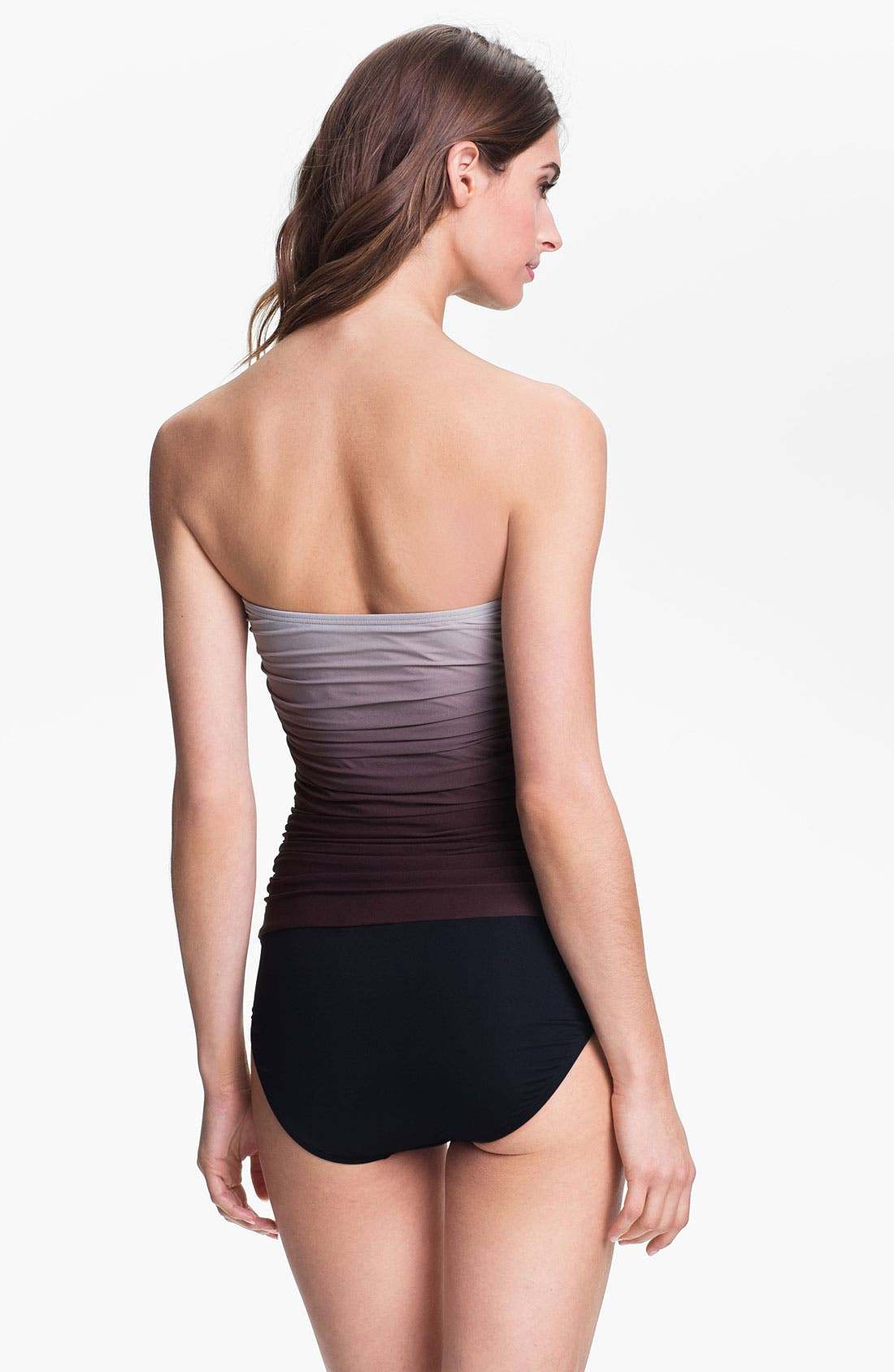 Alternate Image 2  - Carmen Marc Valvo One Piece Bandeau Swimsuit
