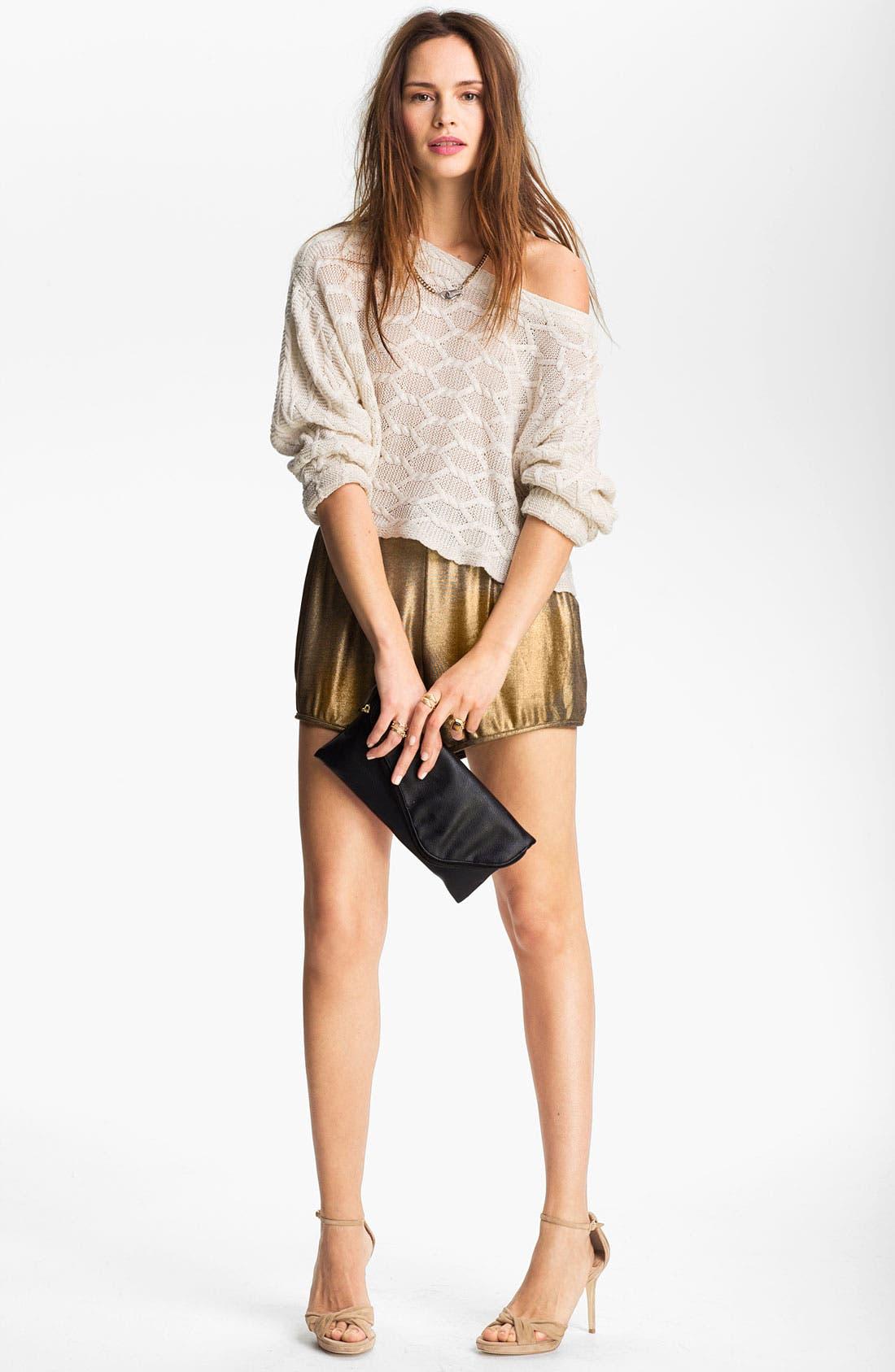 Alternate Image 2  - Tildon Off Shoulder Cabled Pullover Sweater