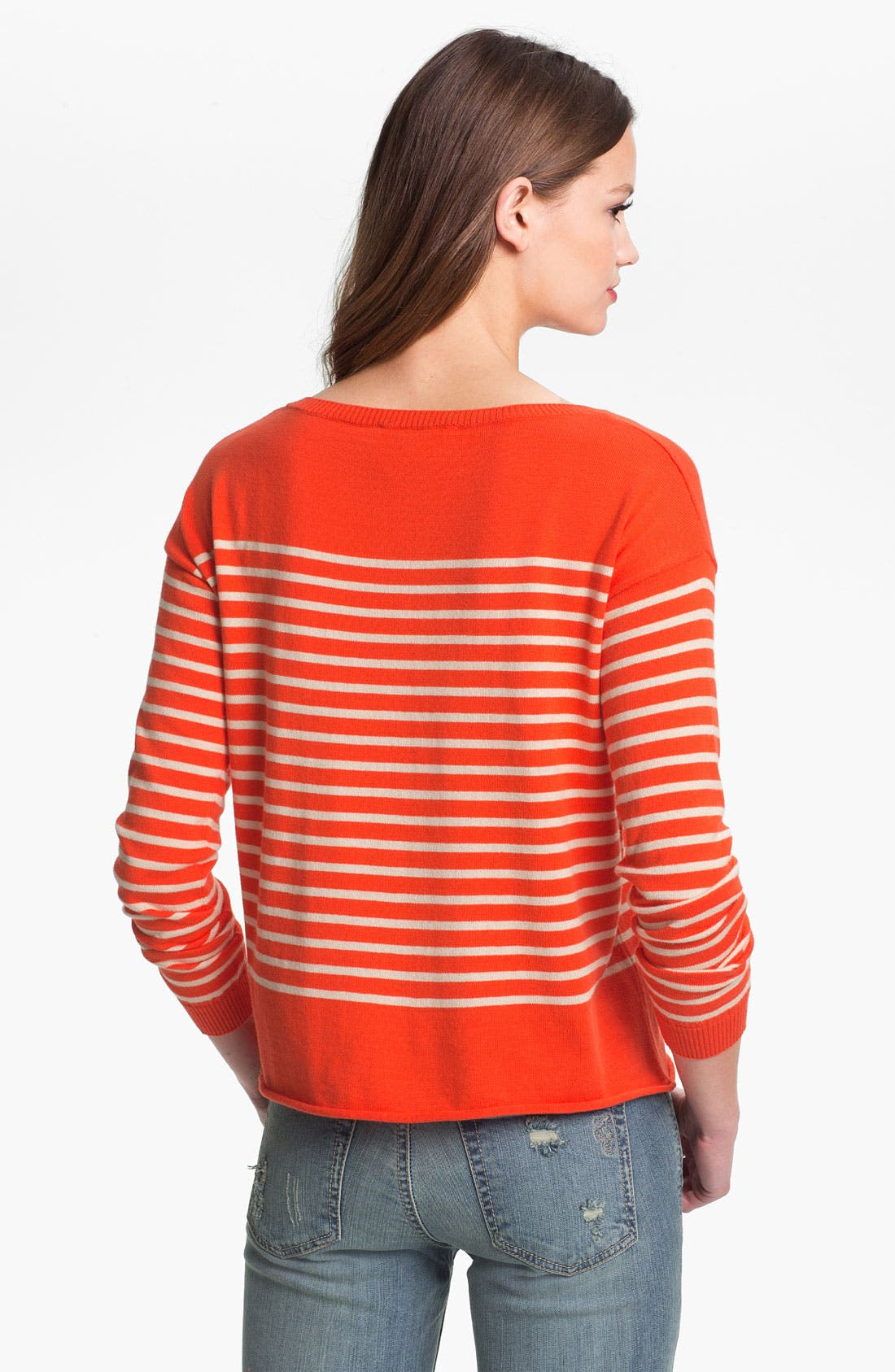 Alternate Image 2  - Two by Vince Camuto Bateau Neck Stripe Sweater