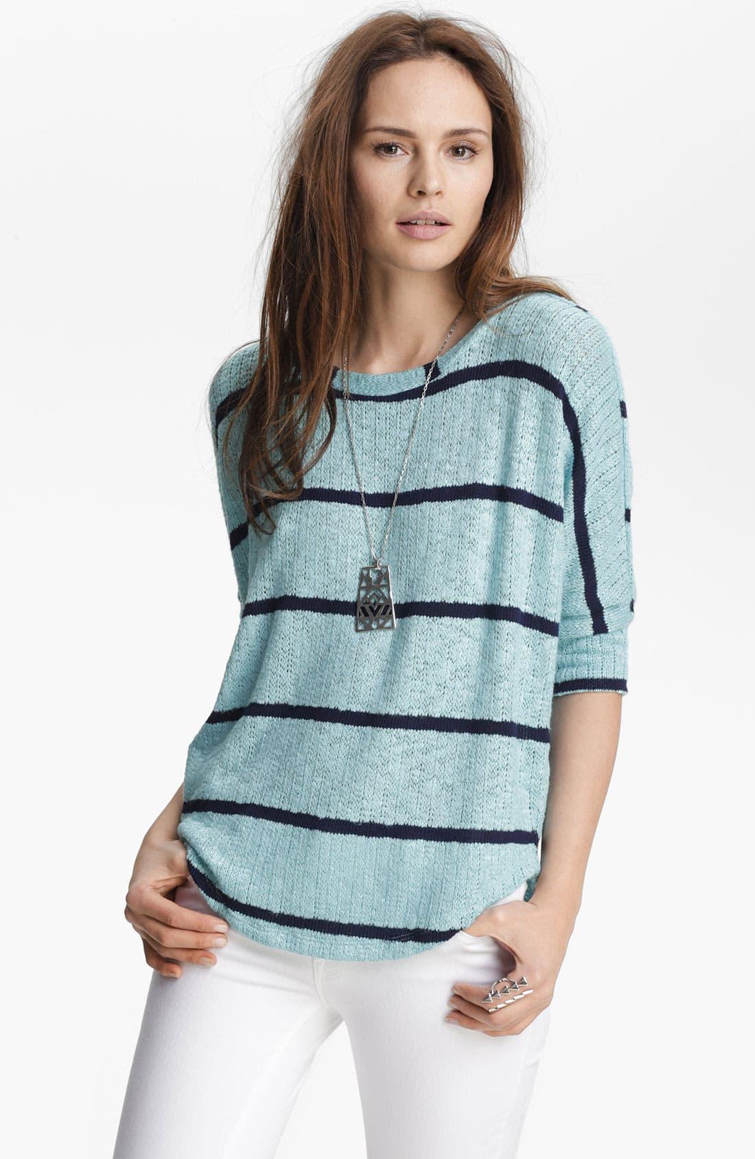 Alternate Image 1 Selected - Splendid Stripe Dolman Sweater
