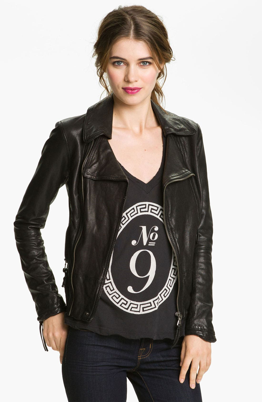 Main Image - June Leather Biker Jacket