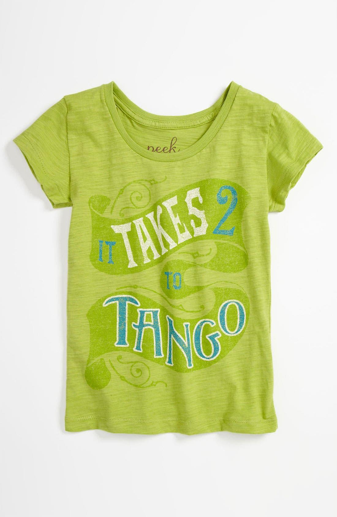 Alternate Image 1 Selected - Peek 'Tango' Tee (Toddler, Little Girls & Big Girls)