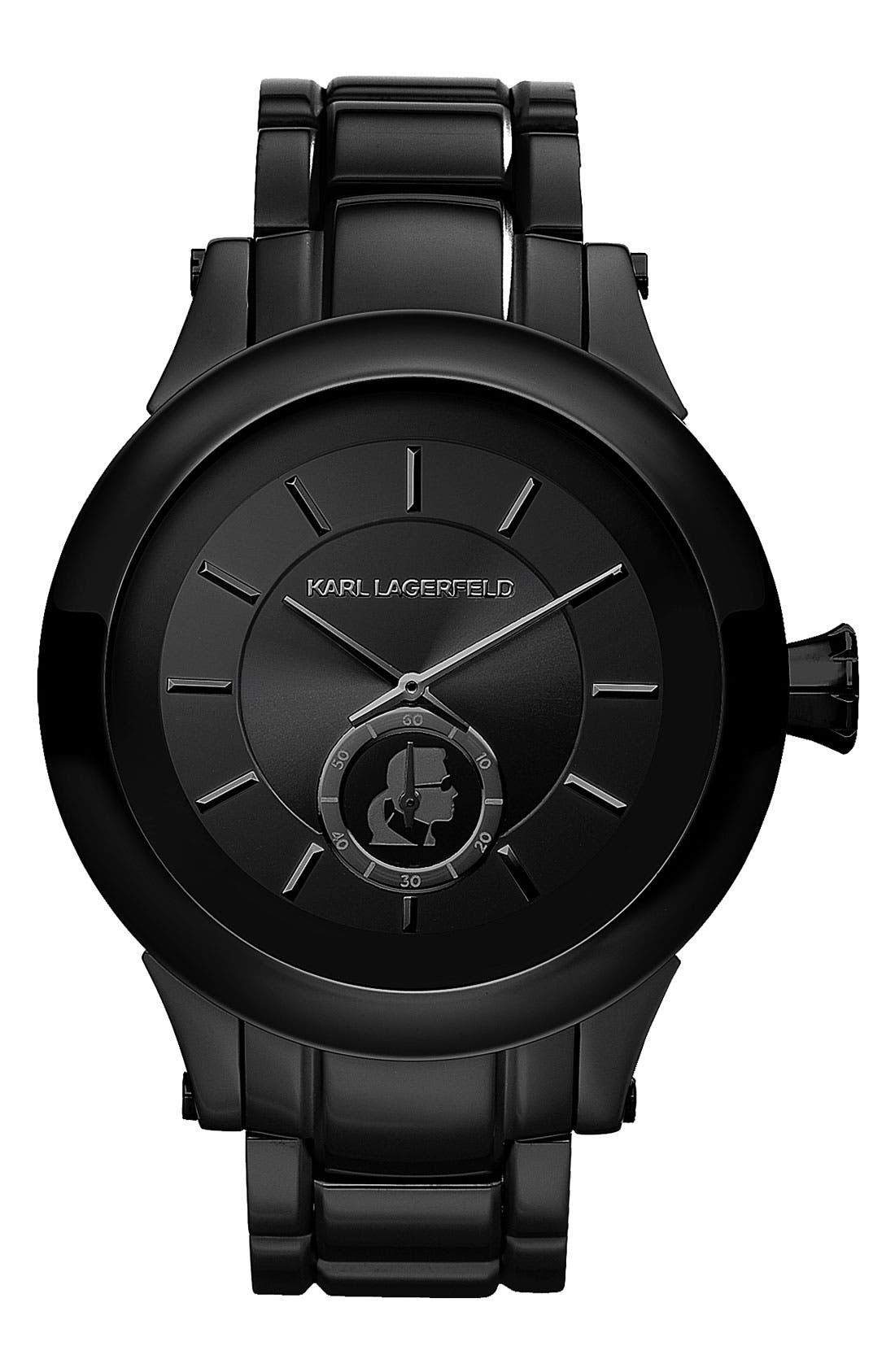 Alternate Image 1 Selected - KARL LAGERFELD Chain Detail Bracelet Watch, 44mm