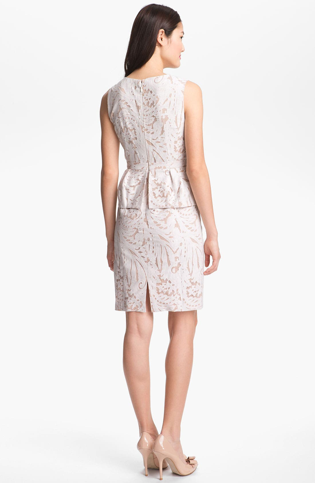 Alternate Image 2  - BCBGMAXAZRIA Lace Peplum Dress