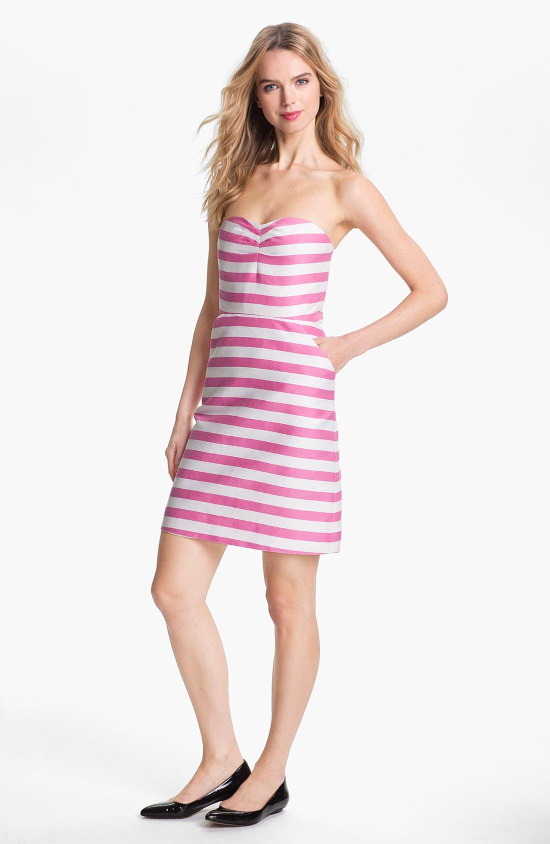 Alternate Image 1 Selected - kate spade new york 'betsy' cotton & silk sheath dress