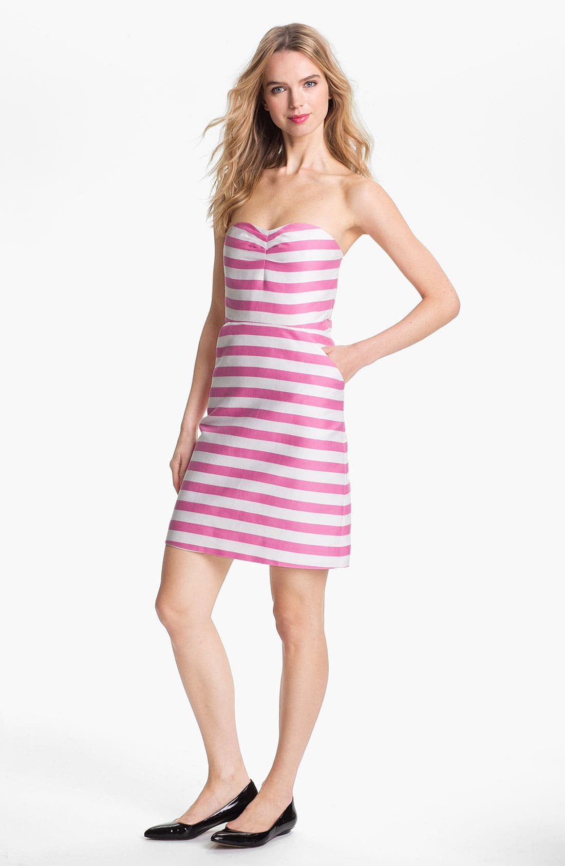 Main Image - kate spade new york 'betsy' cotton & silk sheath dress