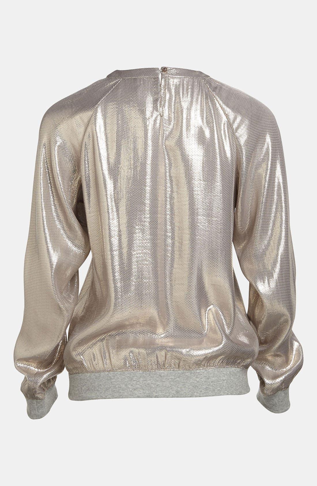Alternate Image 3  - Mural Silky Metallic Foil Sweatshirt