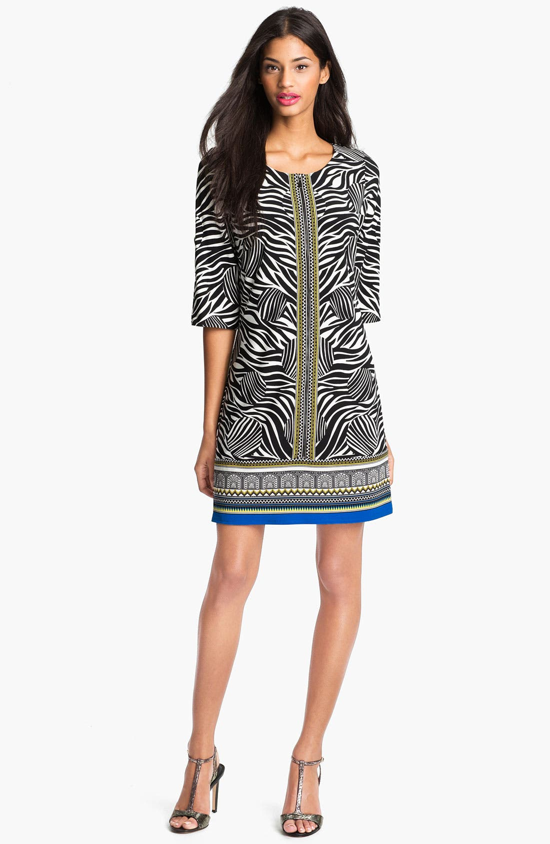 Alternate Image 1 Selected - Laundry by Shelli Segal Print Jersey Dress (Petite)