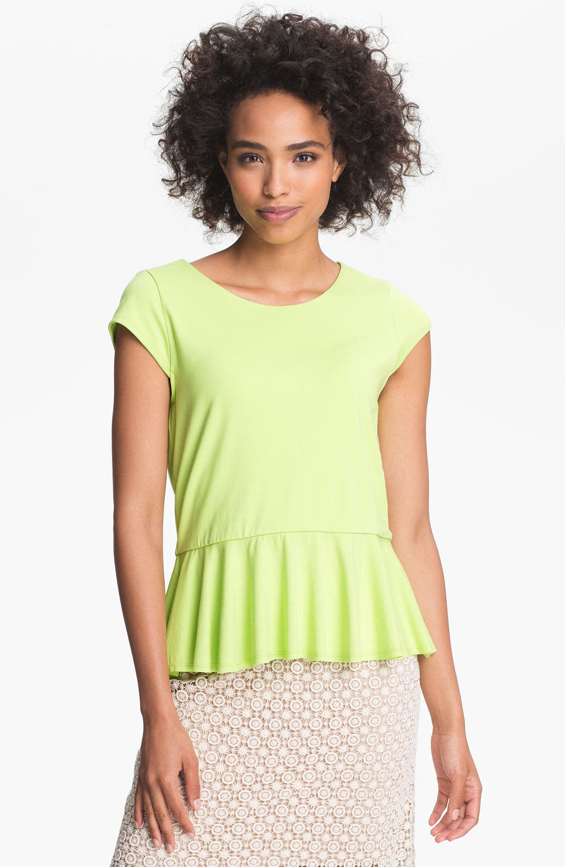 Alternate Image 1 Selected - Vince Camuto Peplum Top