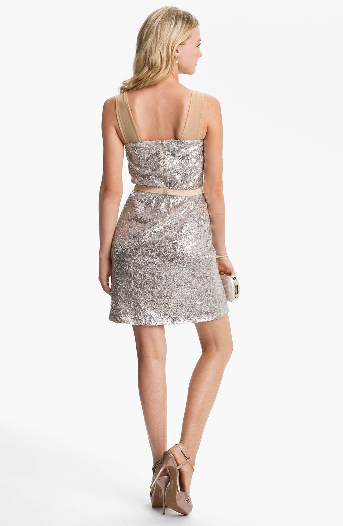 Alternate Image 2  - ERIN erin fetherston Sequin Mesh Dress