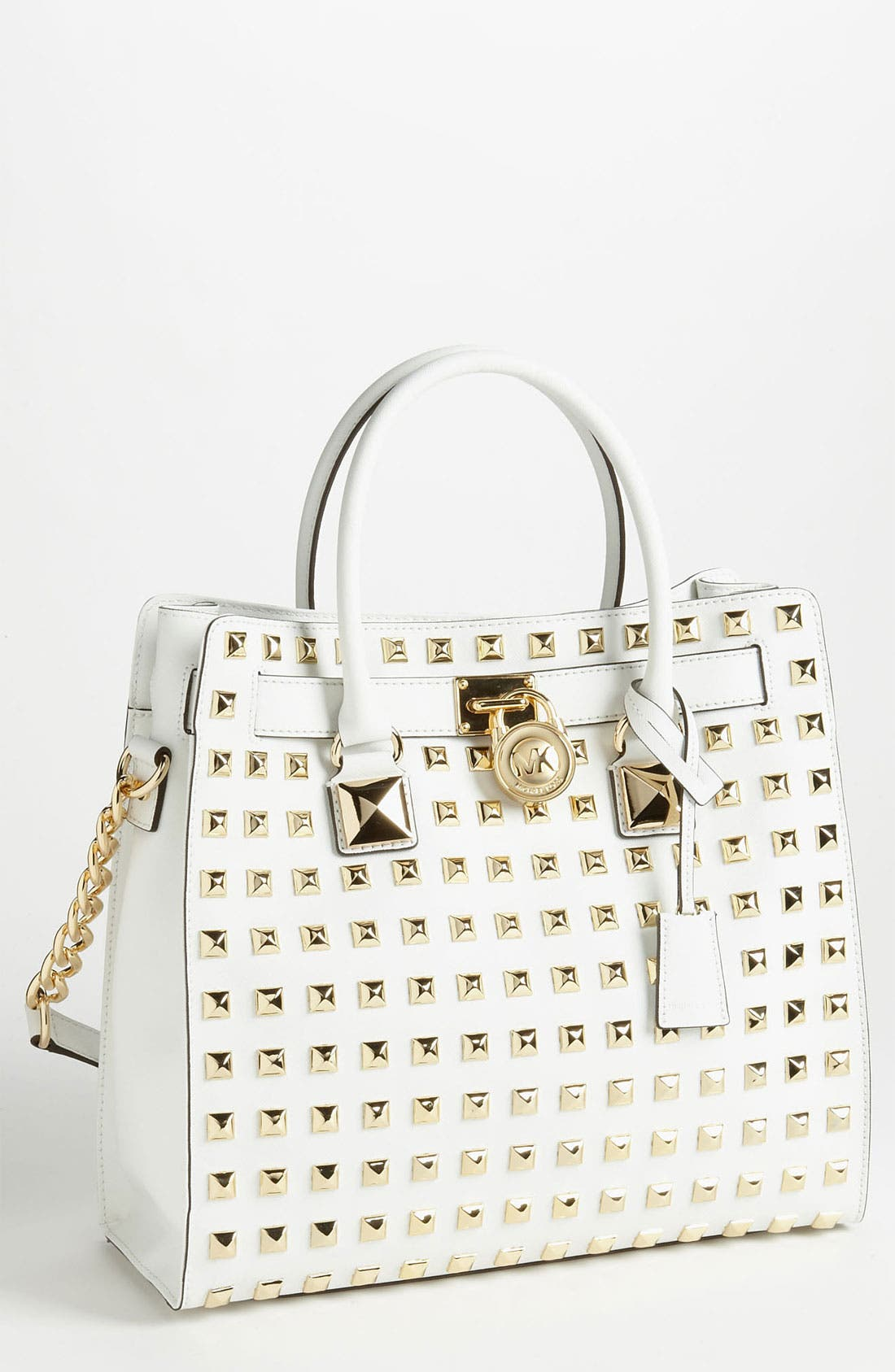 Main Image - MICHAEL Michael Kors 'Hamilton - Large' Studded Leather Tote