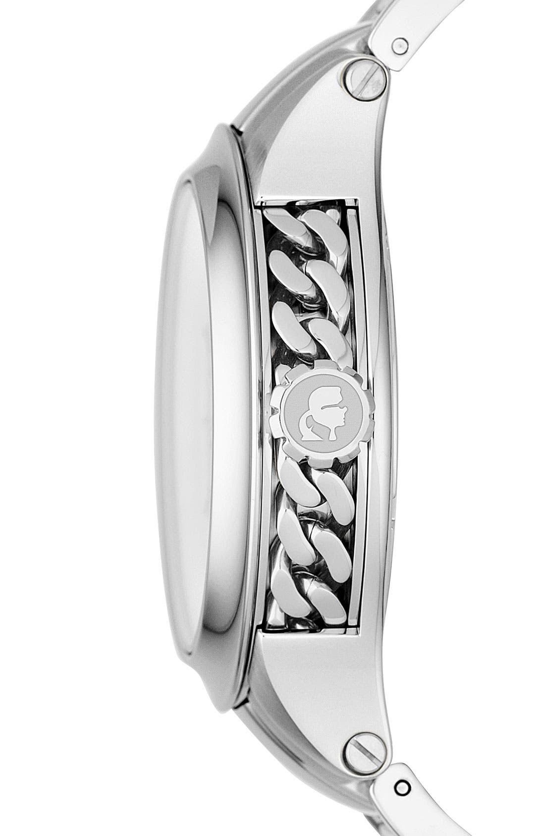 Alternate Image 3  - KARL LAGERFELD Chain Detail Bracelet Watch, 40mm