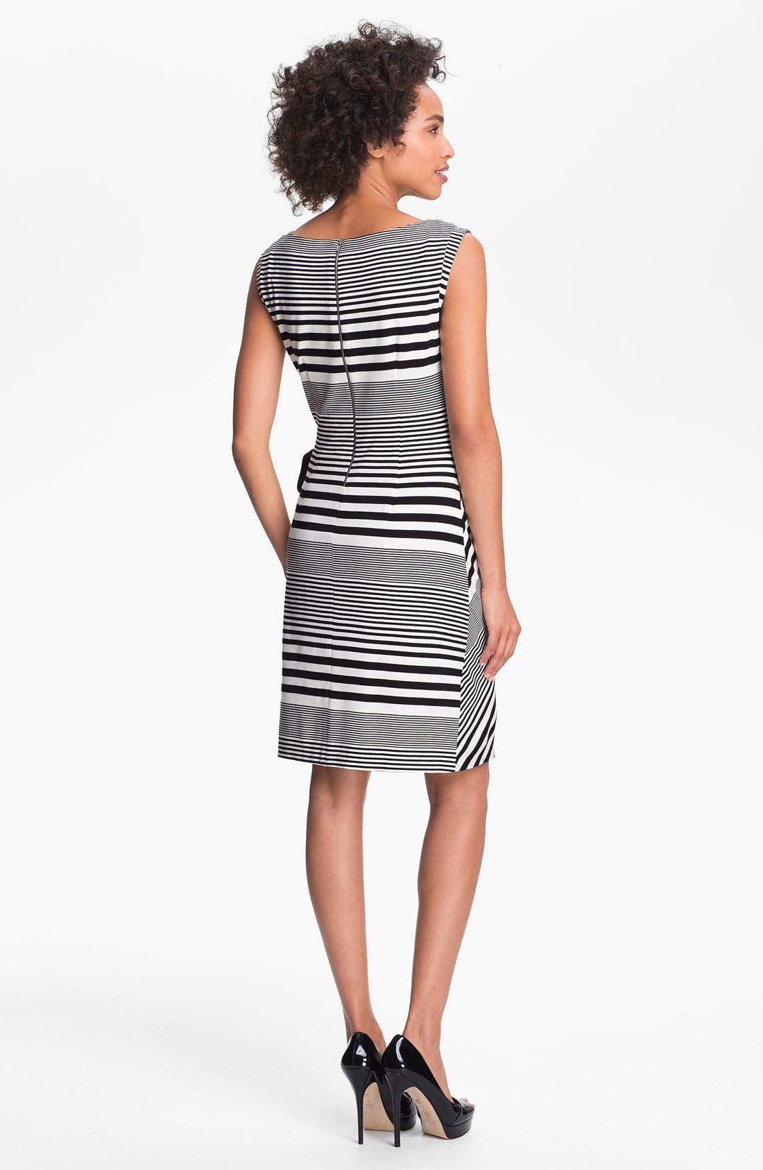 Alternate Image 2  - Tahari Stripe Jersey Sheath Dress