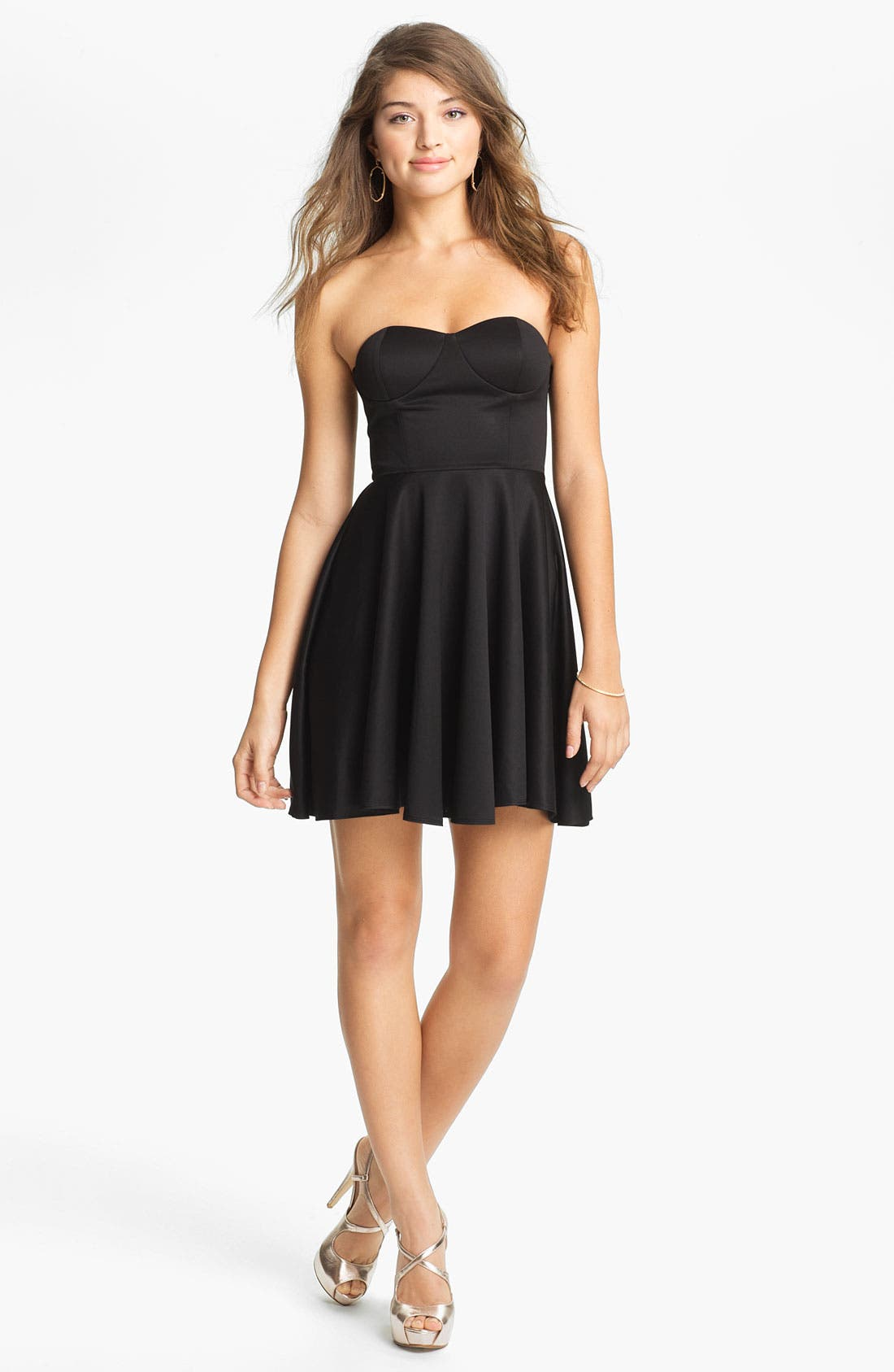Alternate Image 1 Selected - BLAQUE LABEL Strapless Fit & Flare Dress
