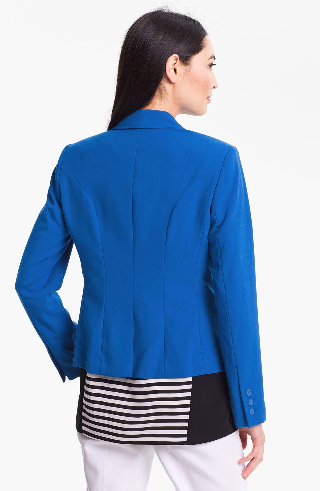 Alternate Image 2  - Calvin Klein One Button Jacket