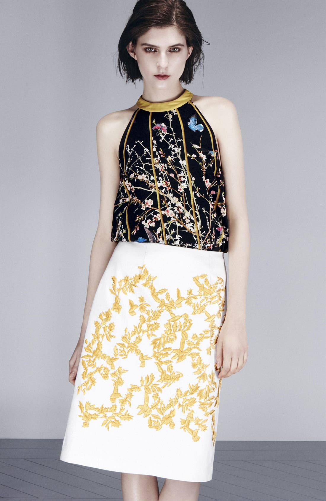 Alternate Image 6  - Thakoon Birdcage Print Silk Top