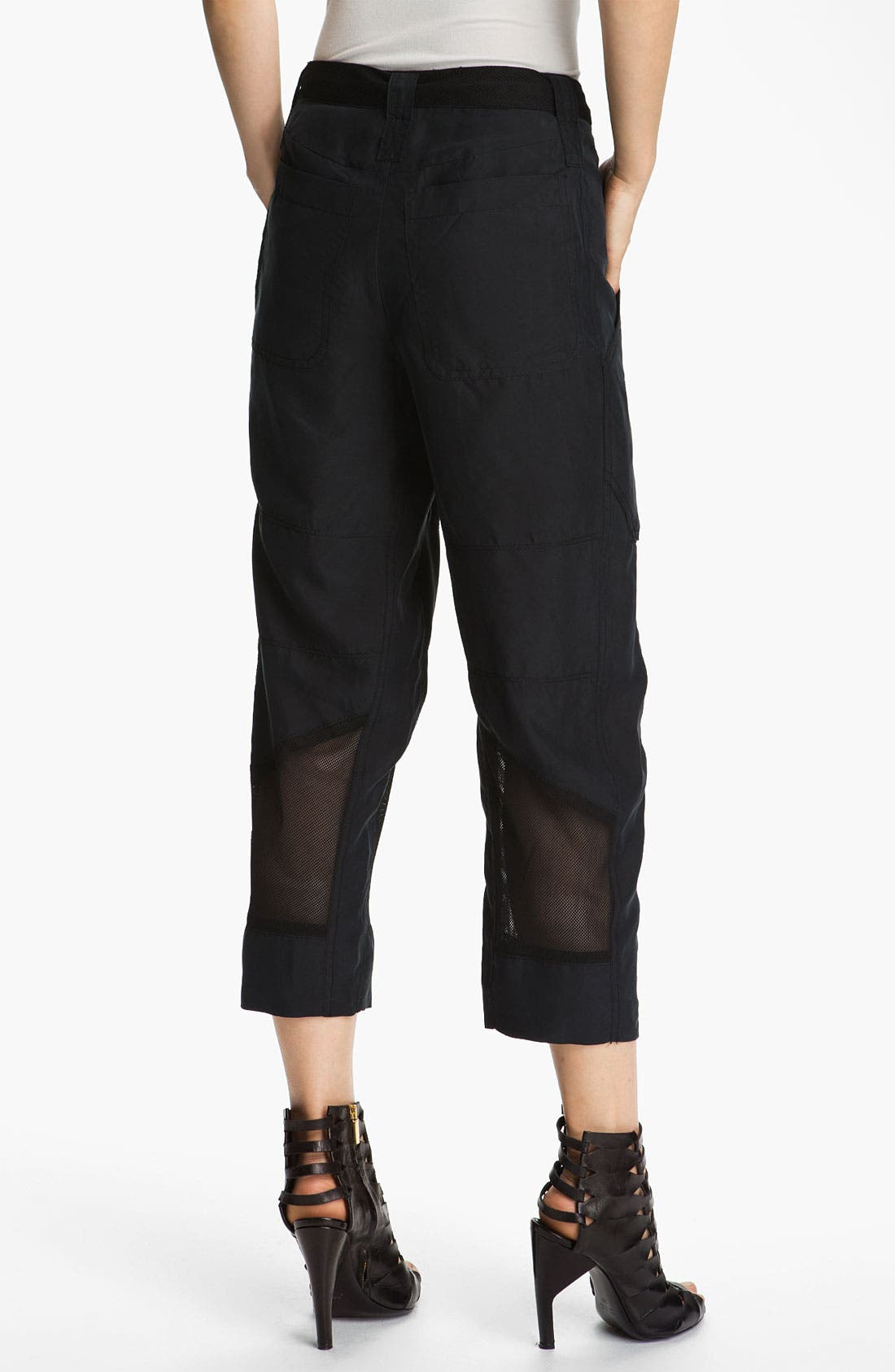 Alternate Image 3  - Edun Mesh Trim Silk Cargo Pants