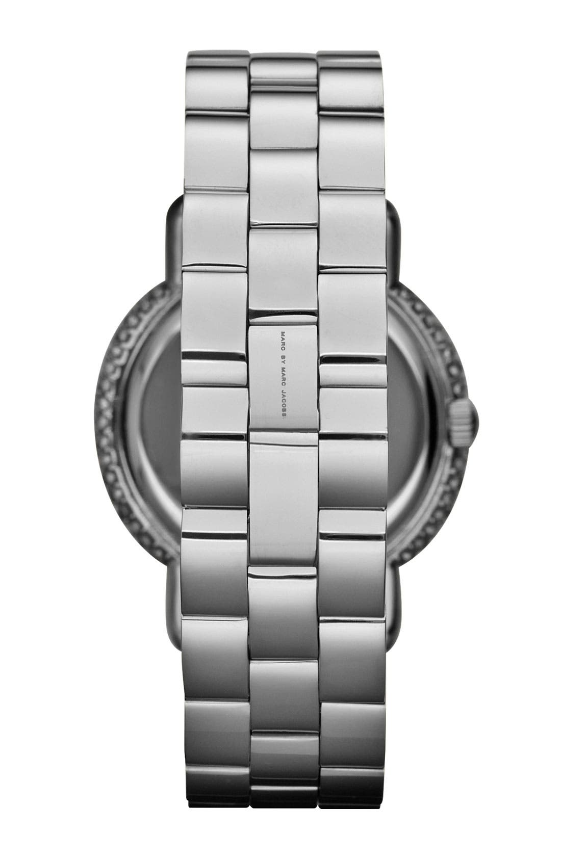 Alternate Image 3  - MARC JACOBS 'Marci' Mirror Dial Crystal Bezel Watch, 36mm