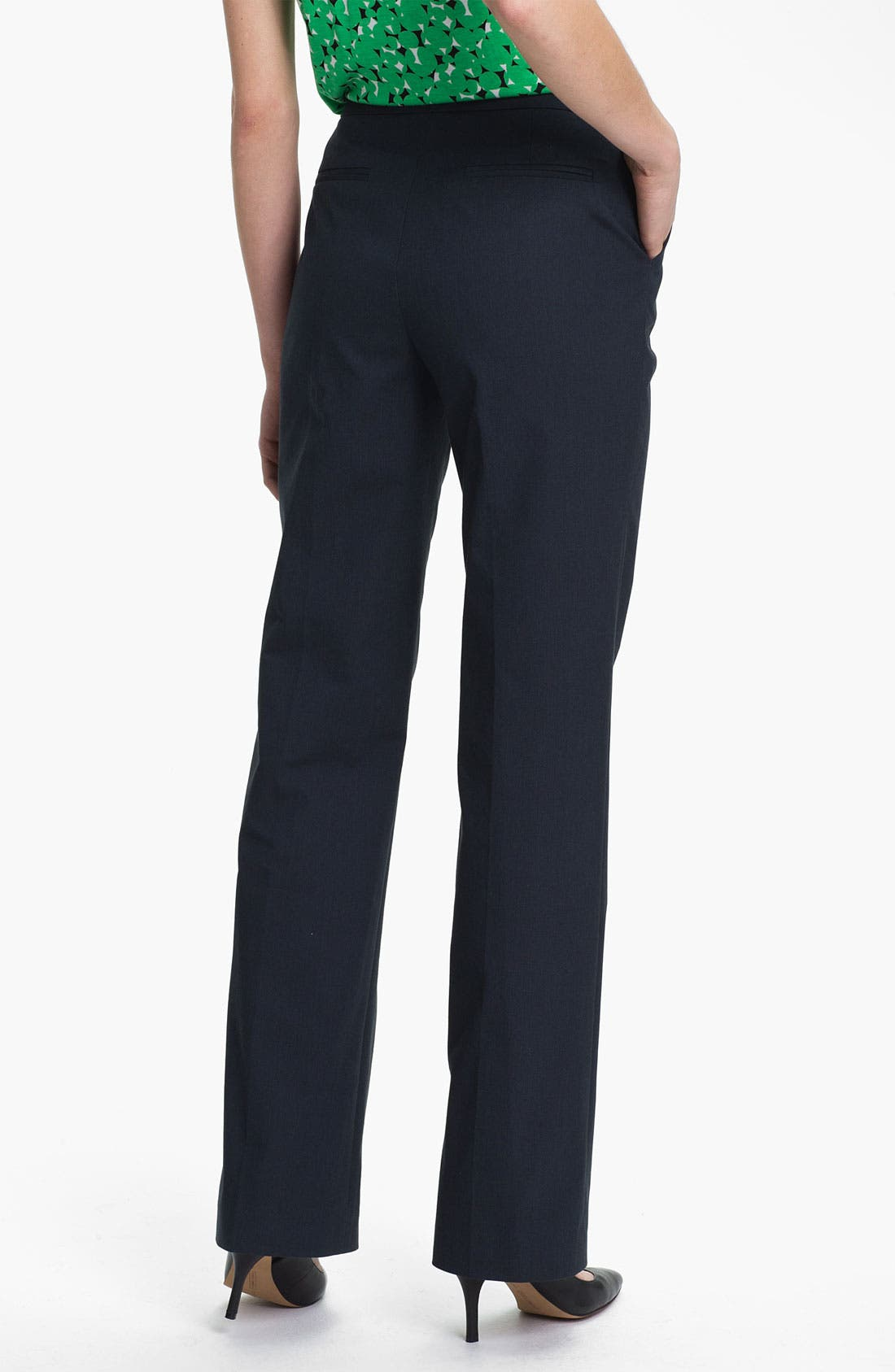 Alternate Image 2  - Halogen 'Taylor' Pinstripe Curvy Fit Pants