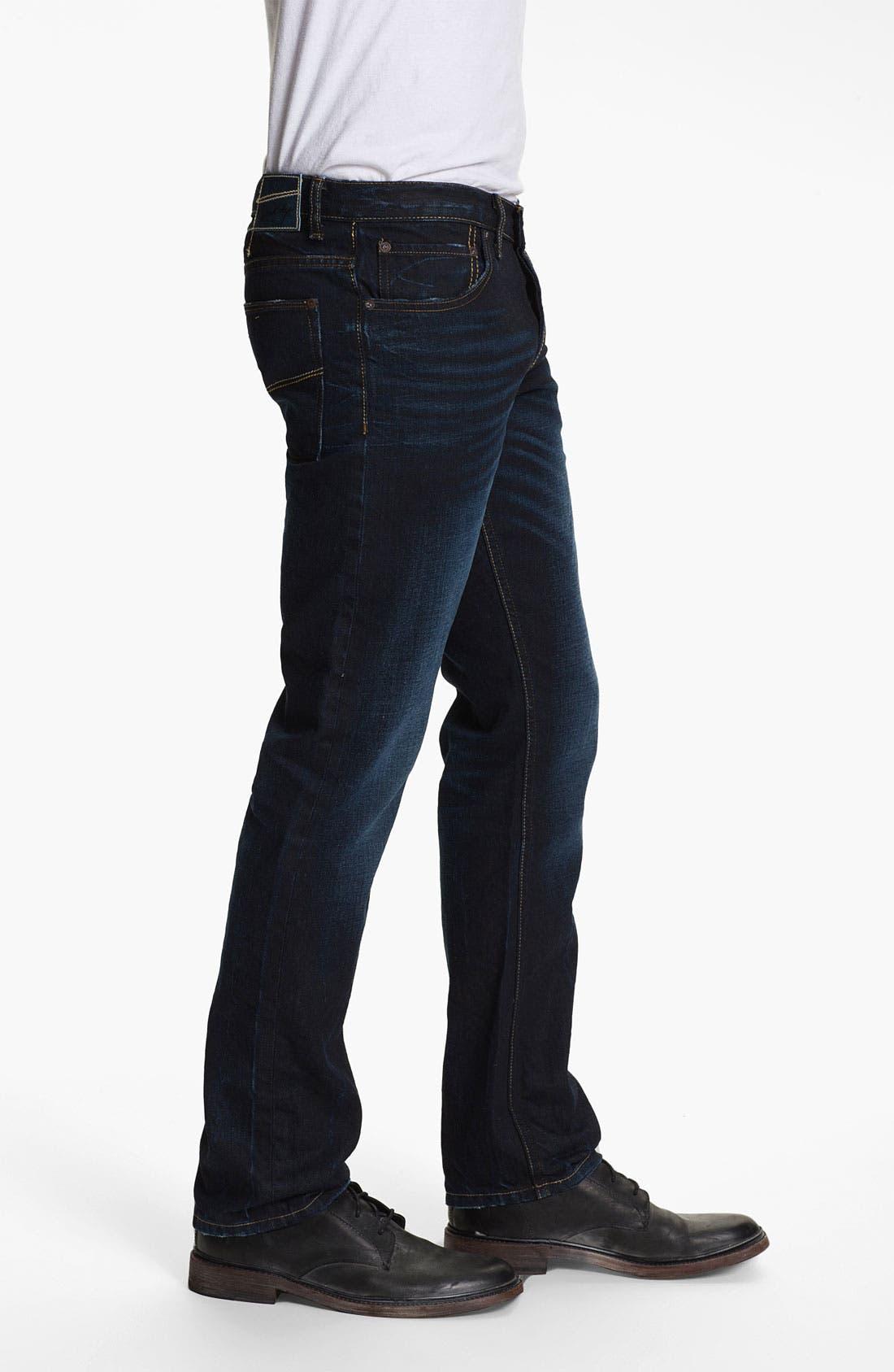 Alternate Image 3  - Gilded Age 'Gotham' Slim Straight Leg Jeans (Dark Wash)