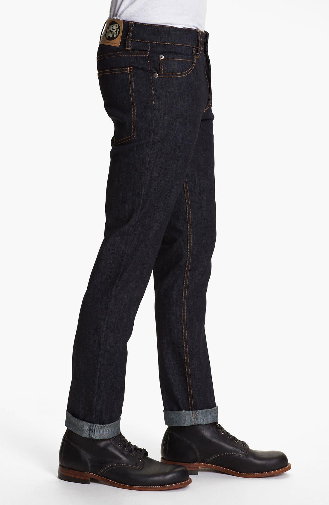 Alternate Image 3  - Cheap Monday Slim Straight Leg Jeans (Original Unwashed)