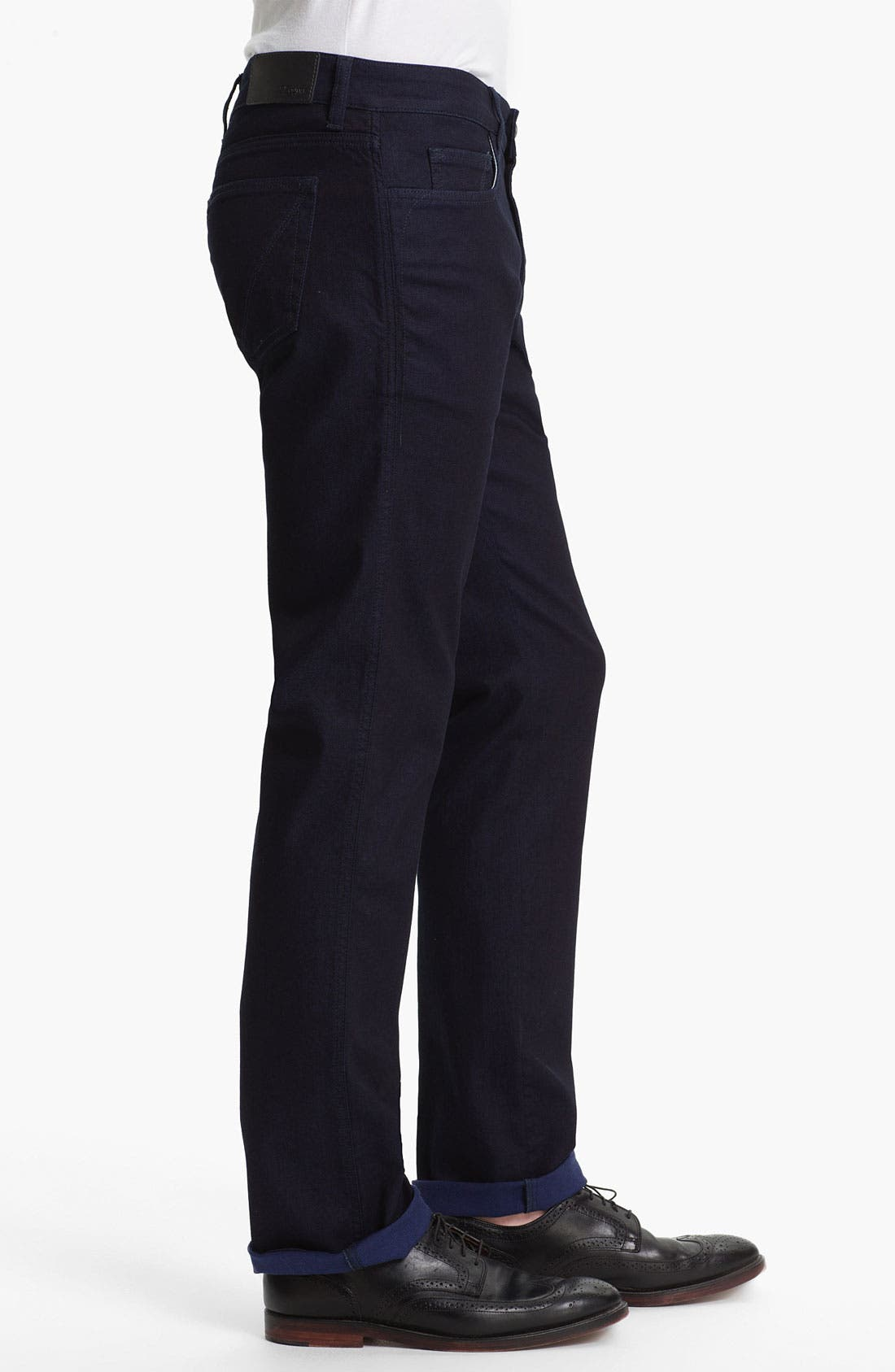 Alternate Image 3  - Z Zegna Straight Leg Jeans (Navy)