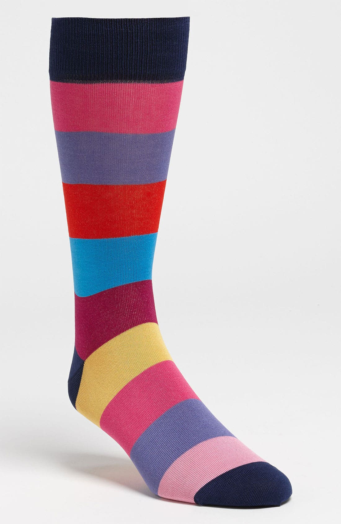 Alternate Image 1 Selected - Bugatchi Uomo Stripe Socks