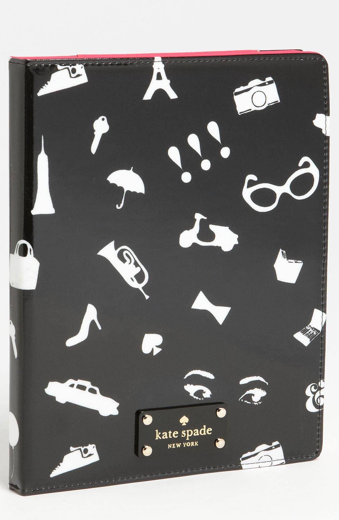 Main Image - kate spade new york 'favorite things' iPad 2 & 3 folio