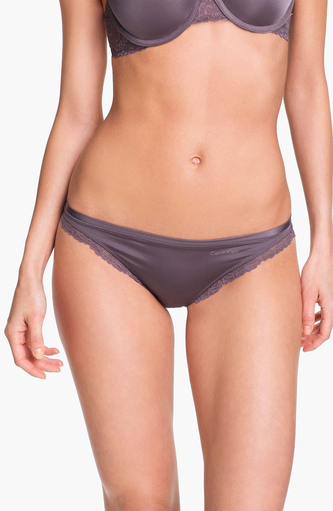 Alternate Image 1 Selected - Calvin Klein 'Seductive Comfort' Lace Trim Bikini
