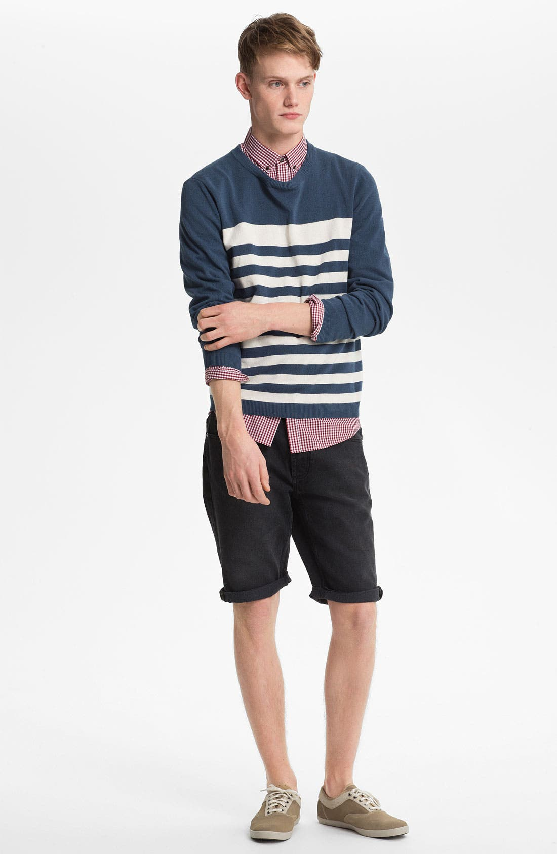 Alternate Image 2  - Topman Skinny Fit Denim Shorts