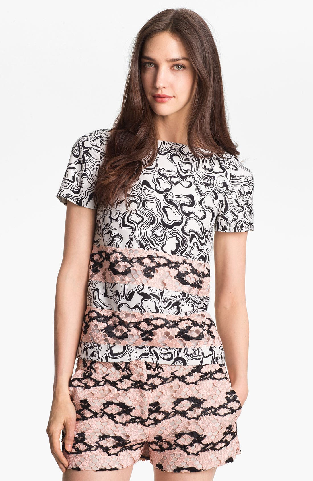 Alternate Image 1 Selected - Diane von Furstenberg 'Blossom' Silk Tee
