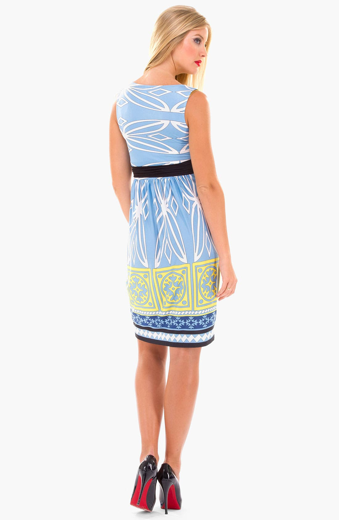 Alternate Image 3  - Olian Print Maxi Maternity Dress