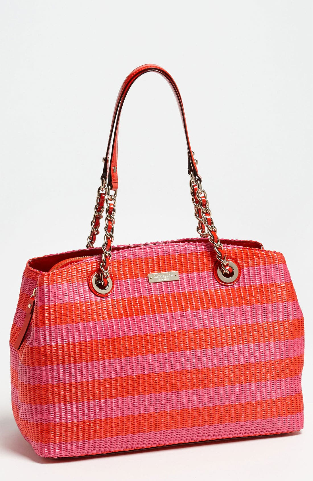Main Image - kate spade new york 'pacific heights - sloan' raffia shoulder bag