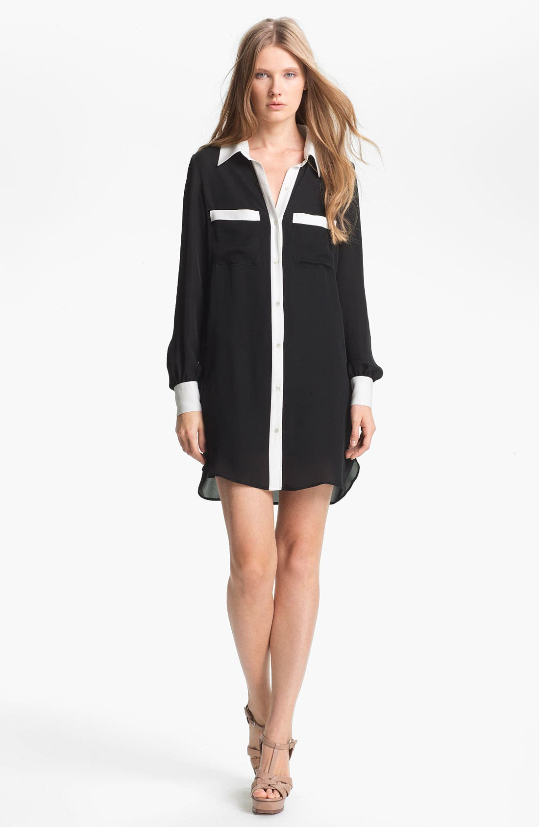 Main Image - Haute Hippie Contrast Trim Shirtdress