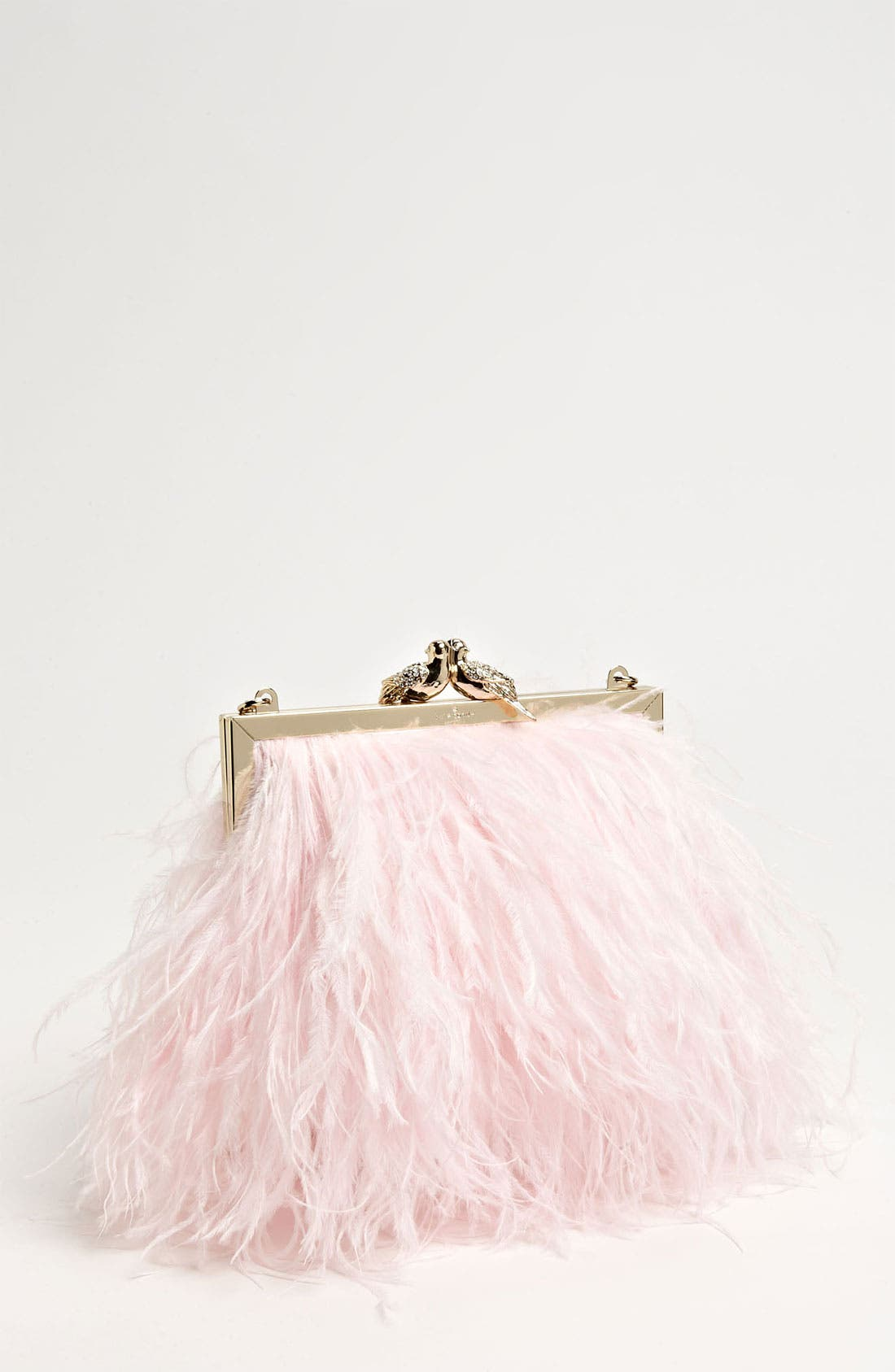 Main Image - kate spade new york 'belle elliana' feather clutch