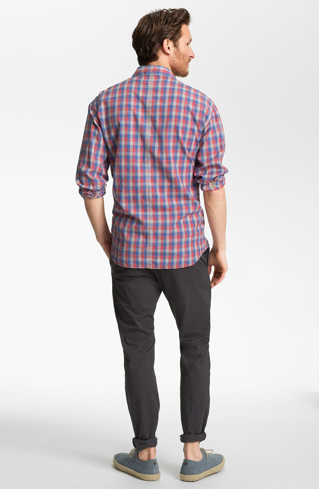 Alternate Image 5  - French Connection Slim Fit Sport Shirt (Online Only)
